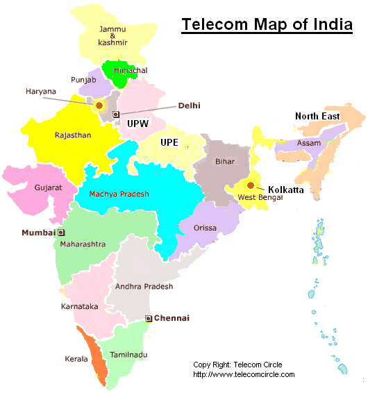 Telecom-Map-of-India