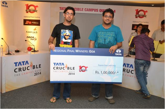 Champions, BITS Pilani Goa Campus - Bhargav and Ananth Kachroo