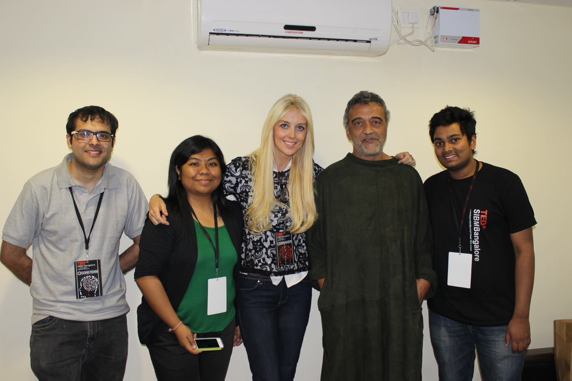 Students with Lucky Ali & Kate Hallam