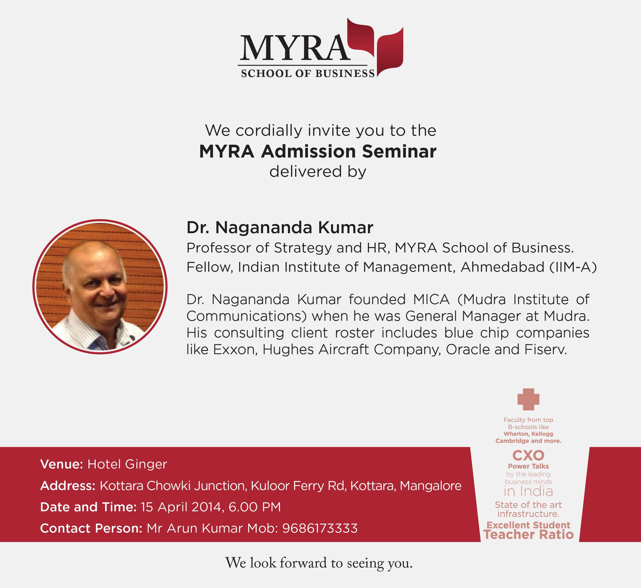 MYRA-AdmissionSeminar-Mangalore_invite