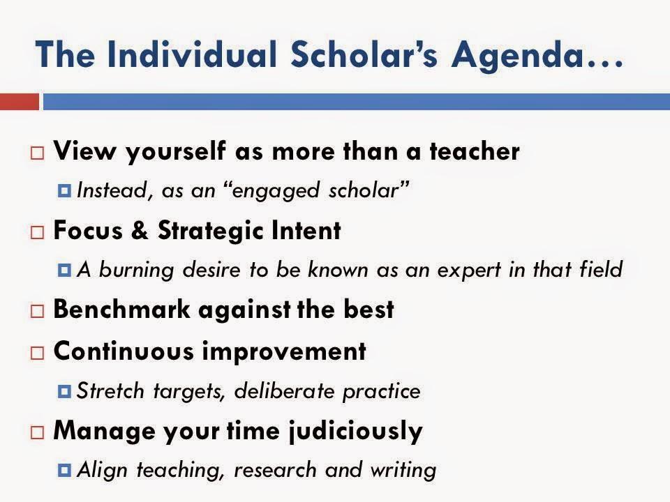 individual scholar agenda