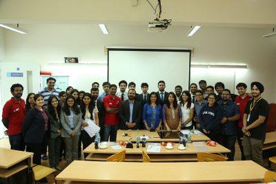 Winning teams of Prayaas - Social Case Study competition with judges Preetha Menon and Mallika Shreevatsva