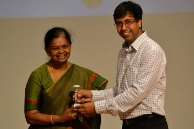 Ms. Rama N. S. (CEO of ELCIA) with Dr. Rajesh Panda (Director of SIBM Bengaluru)