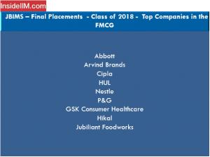 JBIMS Placements 2018 - Companies: FMCG